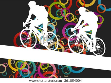 active men cyclists bicycle