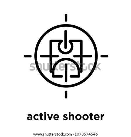 active shooter icon isolated on