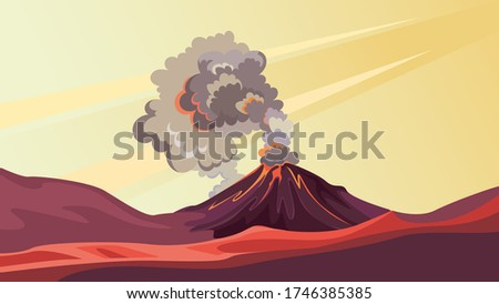 active volcano in the wild