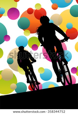 active women cyclists bicycle