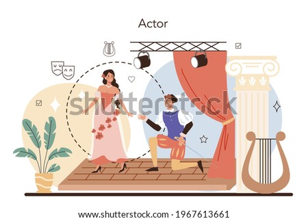 Actor and actress concept. Theatrical performer or movie production cast Stock photo ©