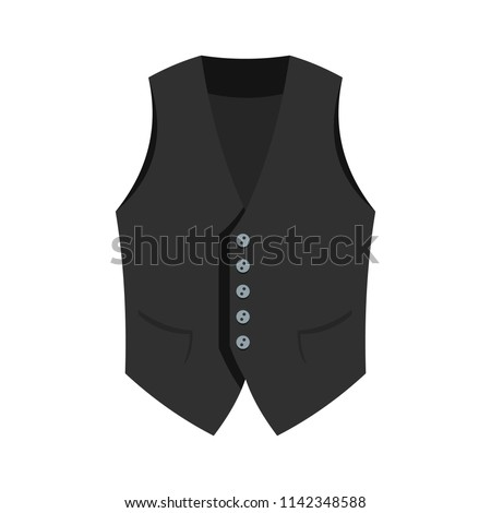 Actor vest icon. Flat illustration of actor vest vector icon for web isolated on white