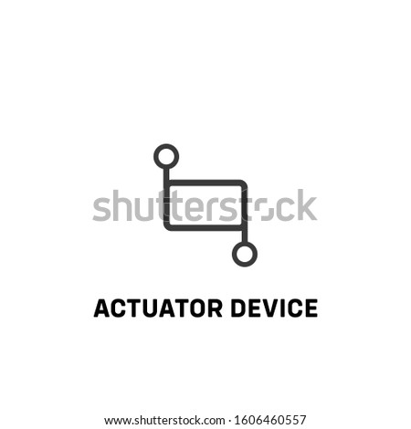 actuator device icon vector. actuator device sign on white background. actuator device icon for web and app Foto stock ©