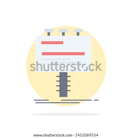 Ad, advertisement, advertising, billboard, promo Flat Color Icon Vector