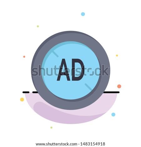 Ad, Blocker, Ad Blocker, Digital Business Logo Template. Flat Color