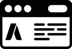 Ad Campaign icon / black color