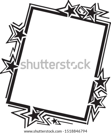 Ad Frame With Stars - Retro Clipart Illustration