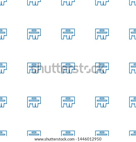 ad icon pattern seamless white background. Editable outline ad icon. ad icon pattern for web and mobile.
