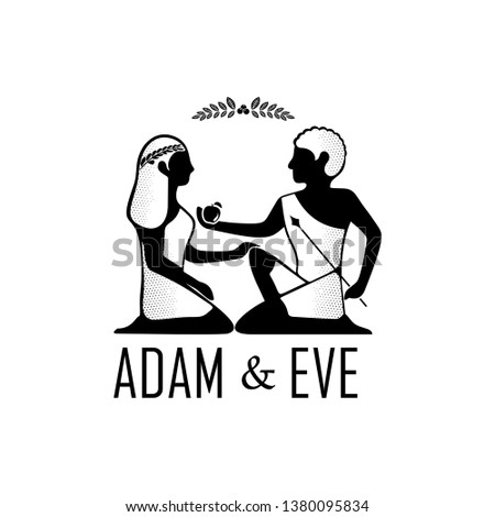 Adam and Eve Couple - vector