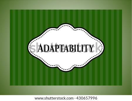 Adaptability colorful card