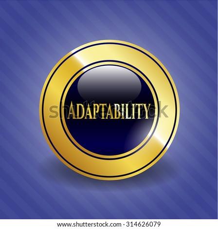Adaptability gold shiny emblem