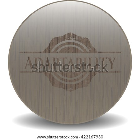 Adaptability realistic wooden emblem