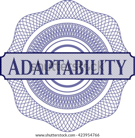 Adaptability rosette or money style emblem