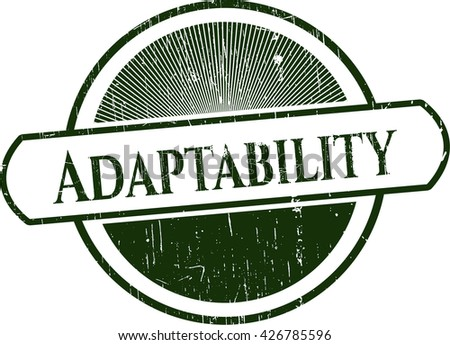 Adaptability rubber grunge texture seal