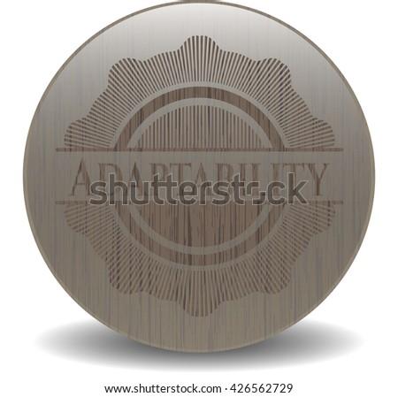 Adaptability vintage wooden emblem