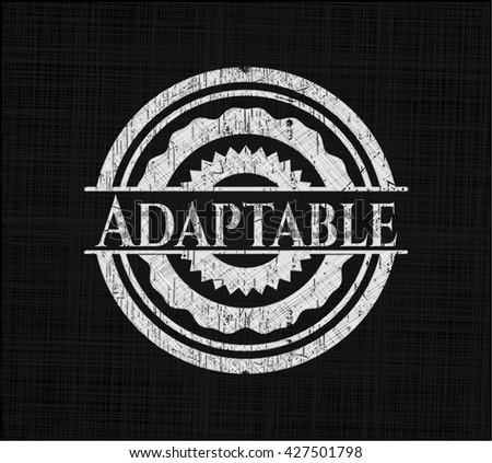 Adaptable chalkboard emblem