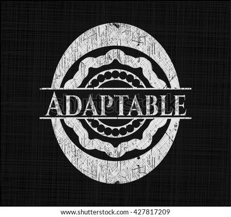 Adaptable chalkboard emblem written on a blackboard