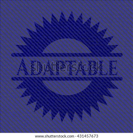 Adaptable emblem with jean texture