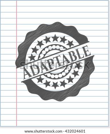 Adaptable pencil emblem