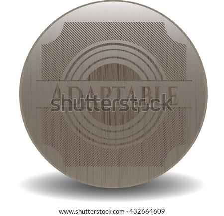 Adaptable retro style wooden emblem