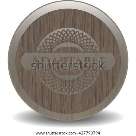 Adaptable vintage wood emblem