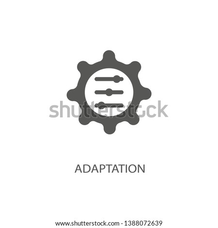 Adaptation icon. Black filled vector illustration. Adaptation symbol on white background. Can be used in web and mobile Stockfoto ©