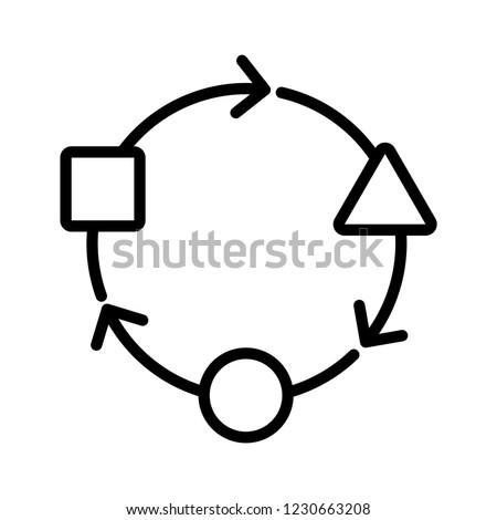 Adaptation icon, vector illustration Stockfoto ©