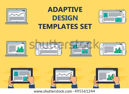 adaptive web phone template and