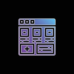 Add blue gradient vector icon