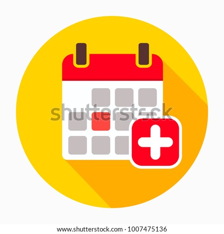 Add calendar icon vector, filled flat sign, solid pictogram isolated on white. Calendar with plus symbol, logo illustration