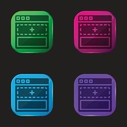 Add four color glass button icon