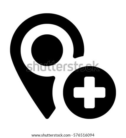 Add Location Vector Icon