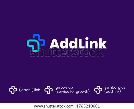 Add Plus logo design template set. Vector collection of Add Link emblems, signs, badges. Graphic plus icon symbols Social, branding. Add Plus label illustration background