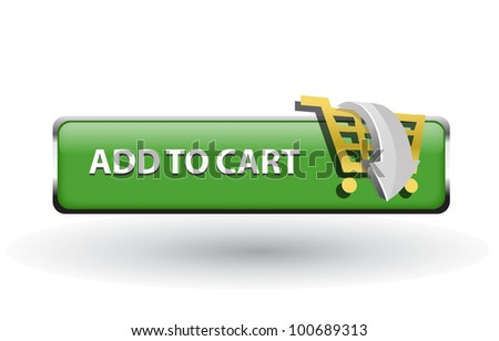add to cart button, shopping icon and button