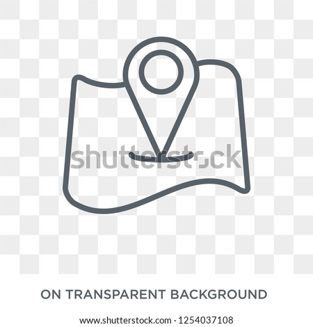 Add to Map icon. Trendy flat vector Add to Map icon on transparent background from Maps and Locations collection. High quality filled Add to Map symbol use for web and mobile