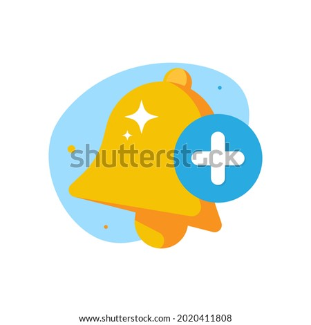 add, turn on, enable notification concept illustration flat design vector eps10. modern graphic element for landing page, empty state ui, infographic, icon Stock foto ©