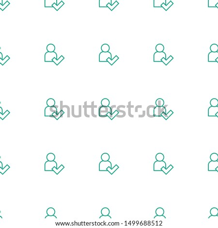 add user icon pattern seamless white background. Editable outline add user icon. add user icon pattern for web and mobile.