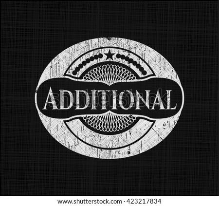 Additional chalk emblem, retro style, chalk or chalkboard texture