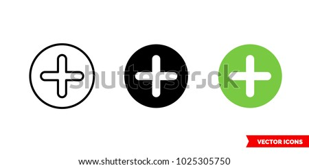 Additional icon of 3 types: color, black and white, outline. Isolated vector sign symbol.