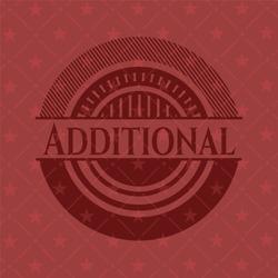 Additional red emblem. Retro