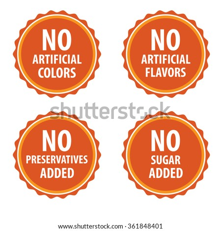 additives free stamp vector