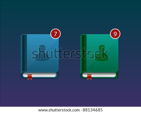 Address and contact book vector detailed icon. - stock vector