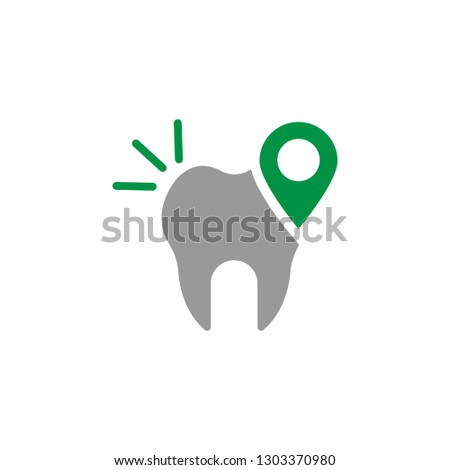 Address and dental clinic icon. Element of Dental Care icon for mobile concept and web apps. Detailed Address and dental clinic icon can be used for web and mobile