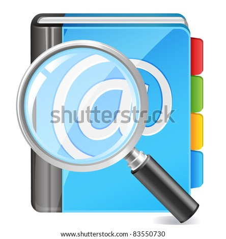 address book icon - search contact