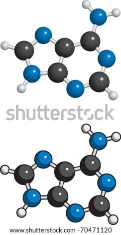 Adenine molecule