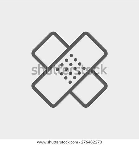 adhesive bandage icon thin line