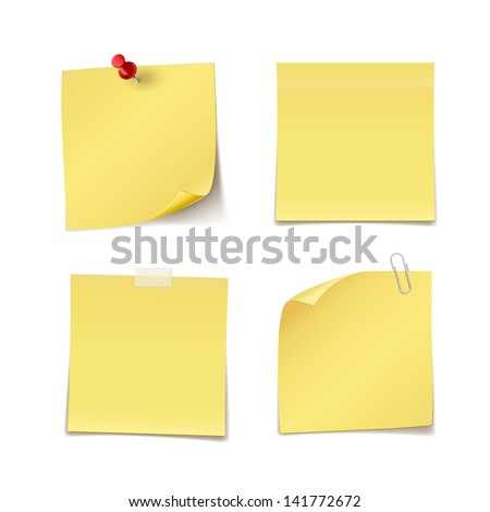 adhesive notes with pin  clip