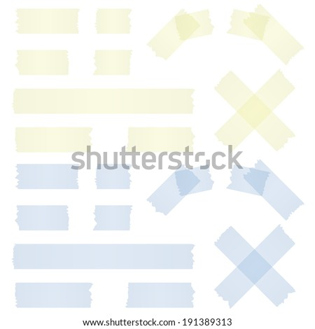 adhesive strip yellow and blue