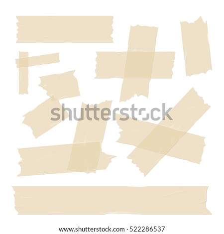 adhesive tape pieces vector set