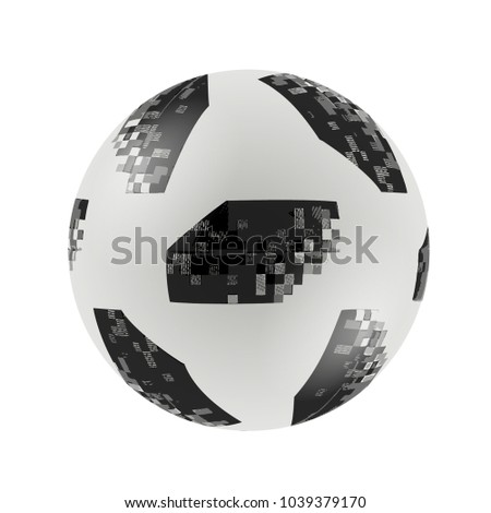 Adidas Telstar Top Glider World Cup 2018 Football, 2018 Russia World Cup Vector Illustration.